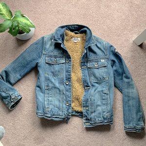 Sherpa jean jacket